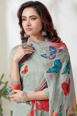 Wholesale Party Wear Digital Print Cotton Suit By Kalahansh