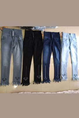Wholesale Party Wear Embroided Denim Jeans Collection