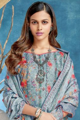 Wholesale Pure Wool Pashmina Digital Printed Suit By Alok Suits