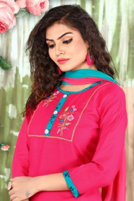 Wholesale Rayon Event Wear Embroidered Ridhi Sidhi Fab Tex Patiyala Suit Collection