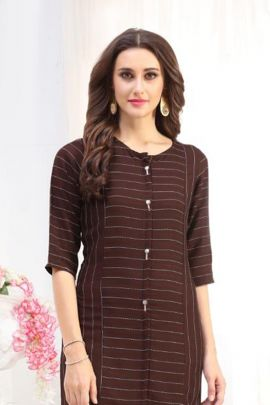 Wholesale Rayon Simple Plain Daily Wear Knee Length Kurti Collection