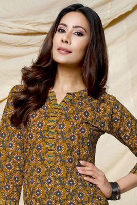 Wholesale Regular Wear Printed Cotton Kurti With Pant Set