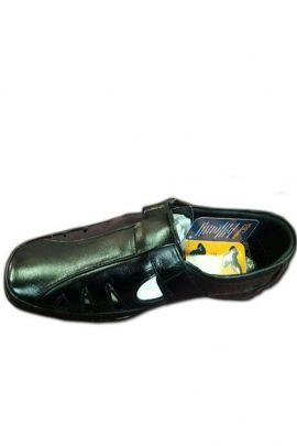 Wholesale Simple Plain Black Party Wear Mens Sandals Collection