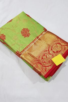 Wholesale Stylish Handloom Tissue Silk South Indian Style Saree With Blouse Piece Collection