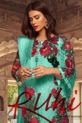 Wholesale Stylish Wear Faux Georgette Embroidered Pakistani Suit Collection
