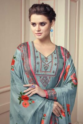Wholesale Viscose Suit With Stitched Embroidery By Sajawat Creation