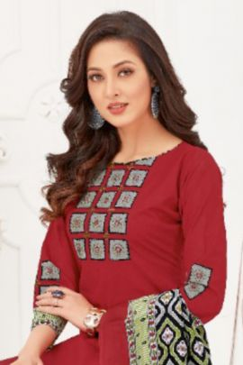 Wholesaler Cotton Printed Daily Wear Simple Mayur Creation Dress With Dupatta Collection