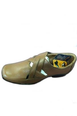 A Bunch Of Brown Mens Synthetic Leather Sandal Set