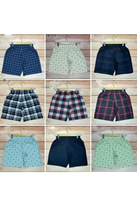 A Bunch Of Cotton Printed Boys Readymade Boxers Set