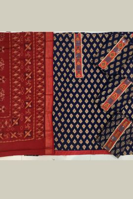 A Bunch Of Cotton Printed Event Wear Dress Material With Dupatta Set