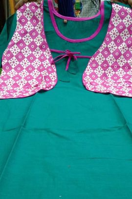 A Bunch Of Cotton Slub Printed Daily Wear Knee Length SBF Kurti Set