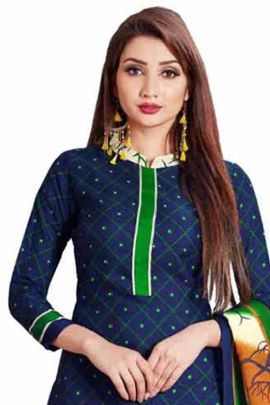 A Bunch Of Cotton Stylish Printed Punjabi Style Suit By VND Set