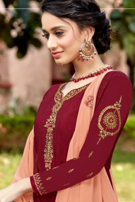 A Bunch Of French Crepe Emboridered Event Wear Dress With Dupatta Set