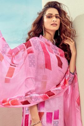 A Bunch Of Lawn Cotton Printed Event Wear Salwar Suit With Dupatta Set