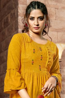 A Bunch Of Rayon Embroidered Daily Wear Western Style Art Riddhs Tops Collection