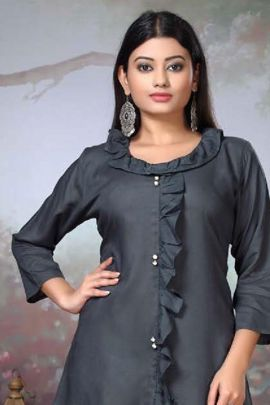 A Bunch Of Rayon Simple Plain Daily Wear Western Style Tops Collection
