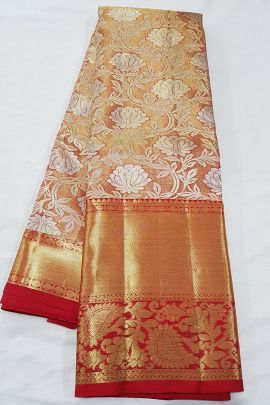 A Bunch Of Stylish Handloom Tissue Silk South Indian Style Saree With Blouse Piece Collection