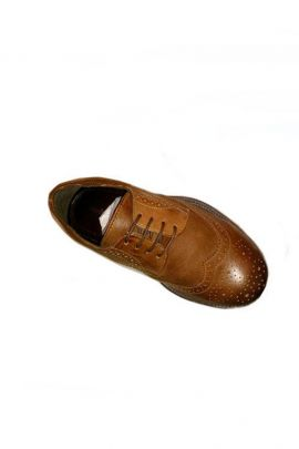 A Pack Of Brown Stylish PU Mens Formal Shoes Bunch