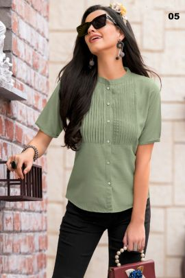 A Pack Of Cotton Simple Plain Western Style Short Length Tops Set