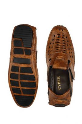 A Pack Of Dark Brown Event Wear Mens Leather Sandals Set