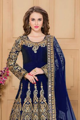 A Pack Of Tafeta Silk Event Wear Floor Touch Anarkali