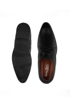 A Set Of Black Mens Stylish Formal Leather Shoes Bunch