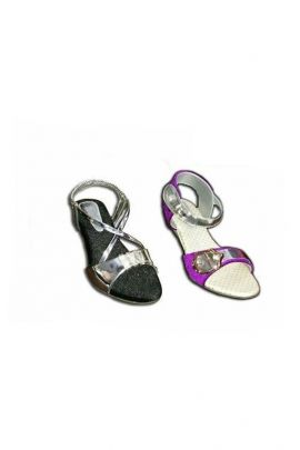 A Set Of Black PU Ladies Stylish Sandals Bunch