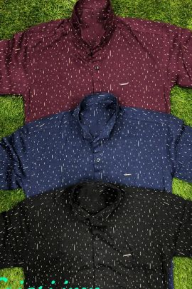 A Set Of Cotton Stylish Event Wear Mens Printed Shirts Bunch