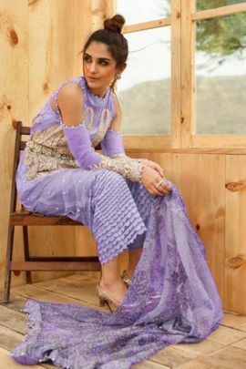 A Set Of Functional Wear Net Pakistani Suit With Heavy Work By Suryavansi Creation