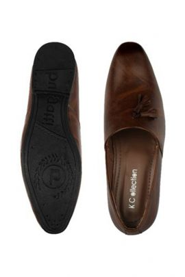 A Set Of Leather Dark Brown Evening Wear Mens Loafers Bunch