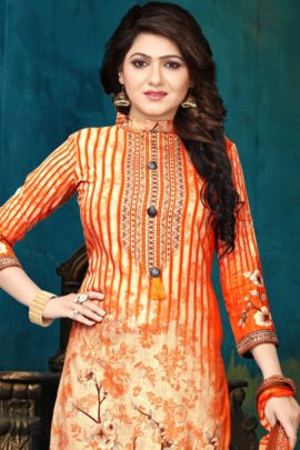 A Set Of Pashmina Event Wear Printed Daily Wear Dress With Dupatta Bunch