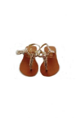 A Stylish Brown Party Wear PU Ladies Sandals Collection