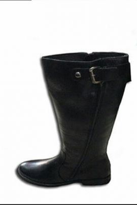 Black Stylish Leather High Top Women Shoes Collection