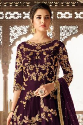 Bulk Designer Heavy Embroided Sampann NX Net Anarkali Suit With Dupatta Set