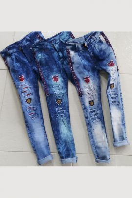 Bulk Party Wear Printed Denim Mens Jeans Set