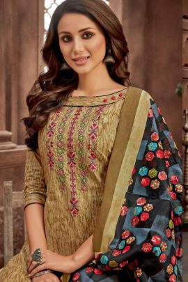 Bunch Of 12 Casual Wear Embroidery Work Salwaar Suit By Balaji Cotton
