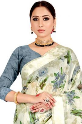 Bunch Of Casual Wear Printed Cotton Silk Saree By VND