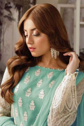 Bunch Of Festival Wear Faux Georgette Embroidered Pakistani Suit By Shanaya