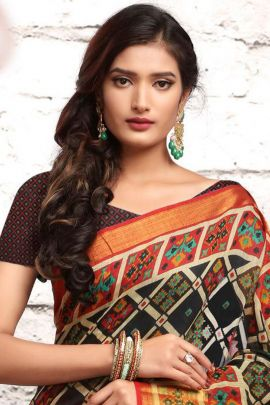 Bunch Of Georgette Event Wear Printed Saree With Matching Blouse By Mintorsi