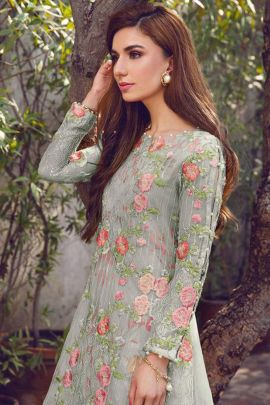 Bunch Of Heavy Georgette Embroidered Pakistani Suit By Hoor Tex