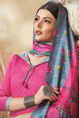 Bunch Of Office Wear Printed Pashmina Floreon Trends Patiyala Salwra Suit With Dupatta