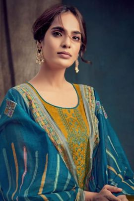 Bunch Of Pure Jam Negative Print Suit With Embroidery By Dhaga