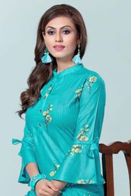 Bunch Of Rayon Different Sleeves Style Casual Kurti By Hirwa