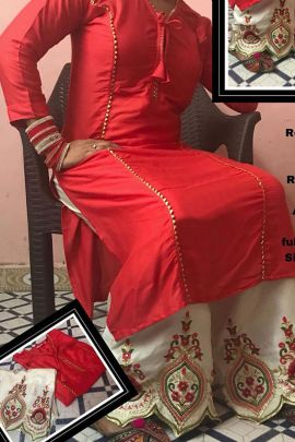 Bunch Of Rayon Kurti With Embroidered Plazzo By Desney Fashion
