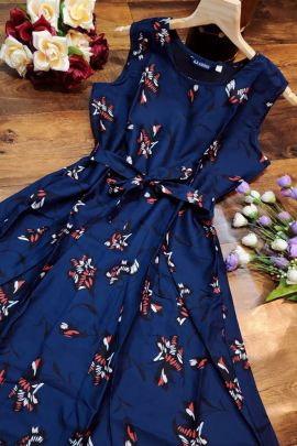 Bunch Of Stylish Wear Crepe Printed One Piece Frock By Desney Fashion