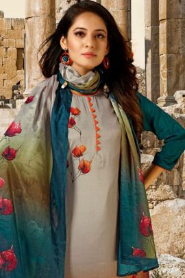 Bunch Of Stylish Wear Crepe Silk Printed Salwar Suit With Dupatta Kalash Creations