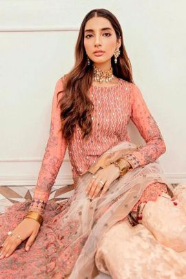 Bunch Of Wedding Wear Net Embroidered Pakistani Suit Ramsha