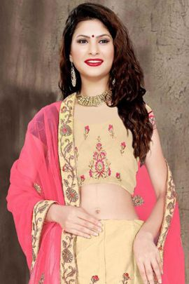 Bundle Of Wedding Wear Satin Silk Embroidered Lehenga With Net Dupatta