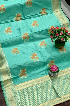 Collection Of Banarasi Silk Jacquard Weaved Dupatta By Maithili Creation