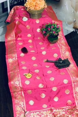 Collection Of Banarasi Silk Weaved Maithali Creation Dupatta